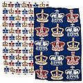 2 Vintage Crowns Tea Towels