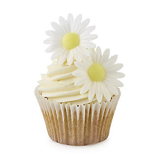 Edible Wafer White Daisy Toppers