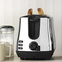 Elementi Polished Stainless Steel 2 Slice Toaster