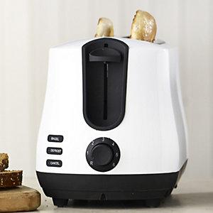 Elementi White 2 Slice Toaster