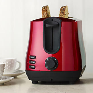 Elementi Red 2 Slice Toaster