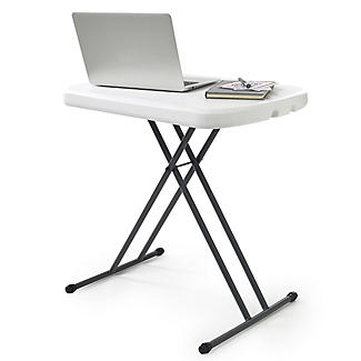 Foldable & Height Adjustable Handy Wipe Clean Table - White