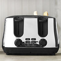 Elementi Polished Stainless Steel 4 Slice Toaster