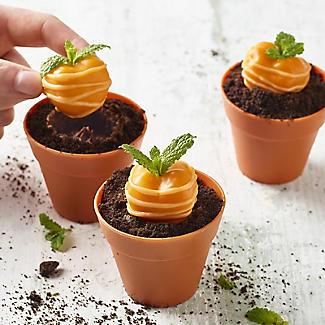 6 Silicone Flowerpot Cupcake Moulds alt image 2