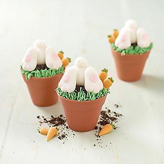 6 Silicone Flowerpot Cupcake Moulds alt image 3