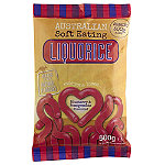 Australian Soft Eating Liquorice 500g Bag - Blueberry & Pomegranate