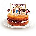 12 Jubilee Pop Top Cake Decorations