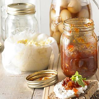3 Kilner Large Preserving Glass Jam Jars & Lids 1L alt image 2