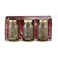 3 Kilner Standard Preserving Glass Jam Jars &