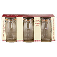 3 Clip Top Kilner® Large Preserving Glass Jam