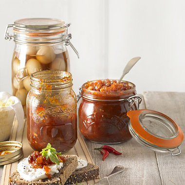 3  Clip Top Kilner® Preserving Jars 1 Litre