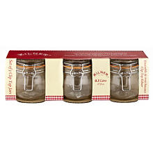 3 Clip Top Kilner®  Standard Preserving Glass Jam Jars & Lids 500ml