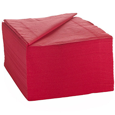 100 Red Napkins