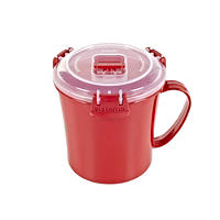 Klip It Microwave Cookware - Red Lidded Soup
