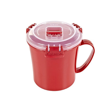 Klip It Microwave Cookware - Red Lidded Soup Mug 656ml