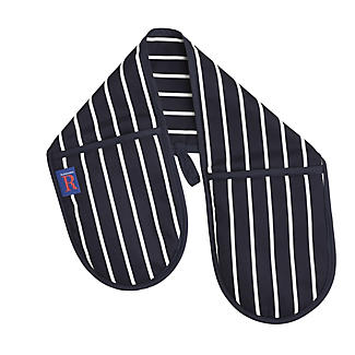 Rushbrookes Butchers Stripe Double Oven Glove