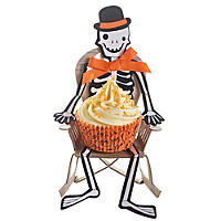 Trick or Treat Skeleton Cupcake Holders