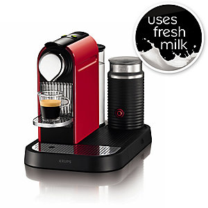 Krups® Nespresso® Fire Engine Red CitiZ with Milk Coffee Pod Machine