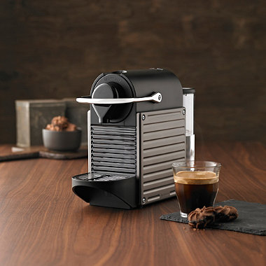 krups nespresso titanium pixie in espresso coffee makers at lakeland. Black Bedroom Furniture Sets. Home Design Ideas