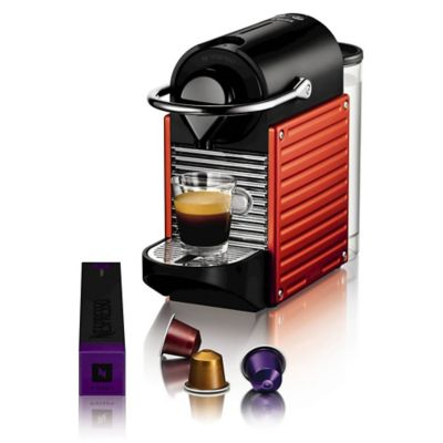 Krups Nespresso&174 Electric Red Pixie Coffee Pod Machine XN3006