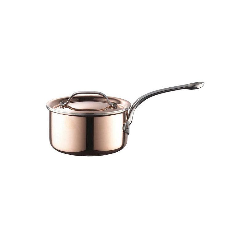 Copper Tri-Ply Saucepan 16cm