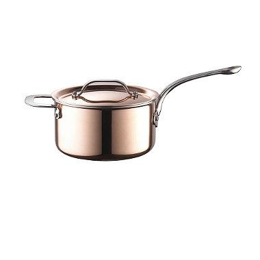 18cm Copper Tri-Ply Saucepan