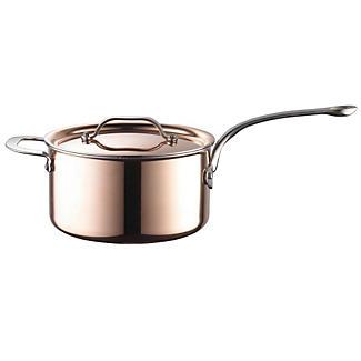 Copper Tri-Ply Saucepan 20cm alt image 1