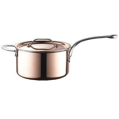 Copper Tri-Ply Saucepan 20cm
