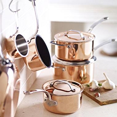 20cm Copper Tri-Ply Saucepan