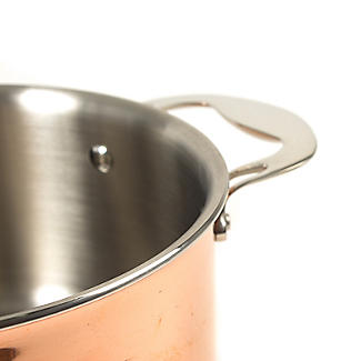 Copper Tri-Ply Saucepan 20cm alt image 9