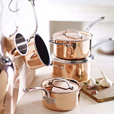 14cm Copper Tri-Ply Milk Pan