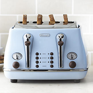 delonghi vintage icona toaster blue lakeland. Black Bedroom Furniture Sets. Home Design Ideas