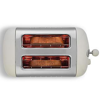 Dualit® Canvas White 2-Slice Toaster 26213 alt image 4