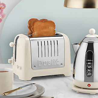 Dualit 2 Slice Toaster Canvas White