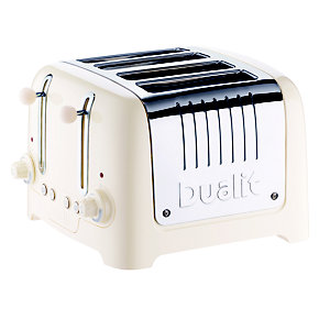 DUALIT® CANVAS WHITE 4-SLICE TOASTER