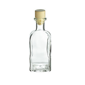 Square Glass Oil & Drinks Gifting Bottle & Cork Stopper 250ml