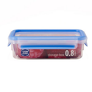 Clean Click Hygienic Rectangular 0.8L Box