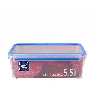 Clean Click Hygienic Rectangular 5.5L Box