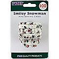 100 Snowmen Mini Baking Cases