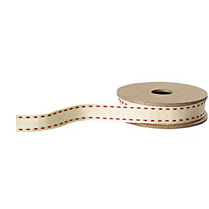 Lakeland Red Stitch Ribbon