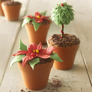 6 Mini Flowerpot Muffin Cases