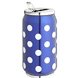 Blue Dotty Drinks Can
