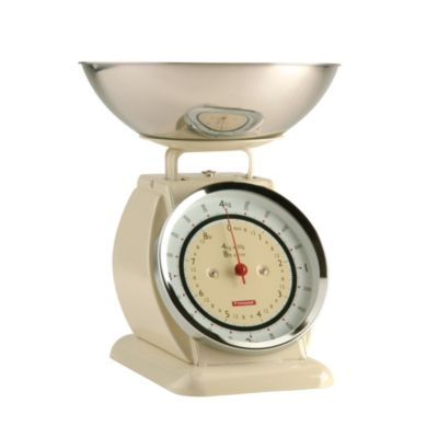Typhoon&174 Bella Cream Mechanical Kitchen Weighing Scales