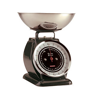 Typhoon® Bella Black Mechanical Kitchen Weighing Scales