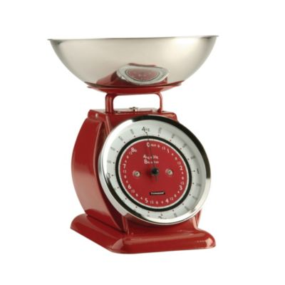 Typhoon&174 Bella Red Mechanical Kitchen Weighing Scales