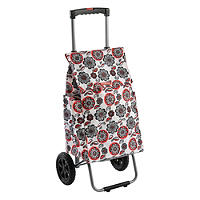 Typhoon® Red Flower Retractable Handle Trolley
