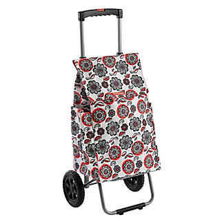 Typhoon® Red Flower Retractable Handle Trolley