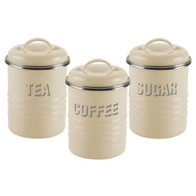 Typhoon 174 Vintage Kitchen Cream 3 Canister Set In Canisters