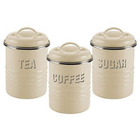 Typhoon® Vintage Kitchen Cream 3 Canister Set
