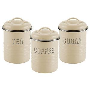 Typhoon® Vintage Kitchen Cream 3 Canister Set